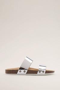 esprit metallic sandalen